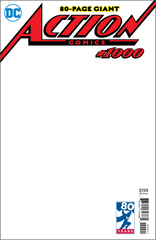 Action Comics #1000 Blank Var Ed (Note Price)