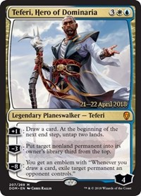 Teferi, Hero of Dominaria (Dominaria Prerelease Foil)
