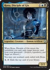 Rona, Disciple of Gix - Foil - Prerelease Promo