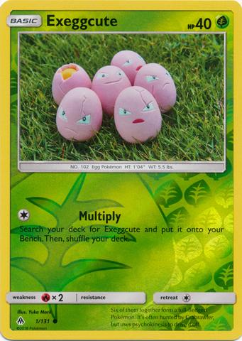 Exeggcute - 1/131 - Common - Reverse Holo - Pokemon Singles