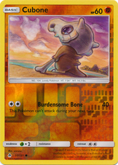 Cubone - 57/131 - Common - Reverse Holo on Channel Fireball