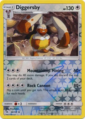 Diggersby 98 131 Uncommon Reverse Holo Pokemon