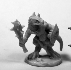 Lizardman w/ Club and Shield