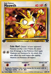 Meowth - 62/82 - Common - 1st Edition