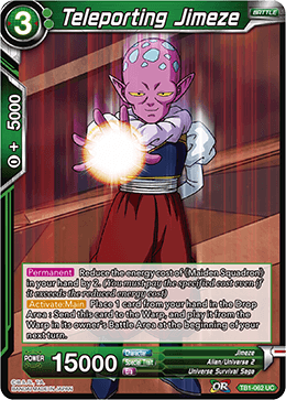 Teleporting Jimeze - TB1-062 - UC - Dragon Ball Super CCG