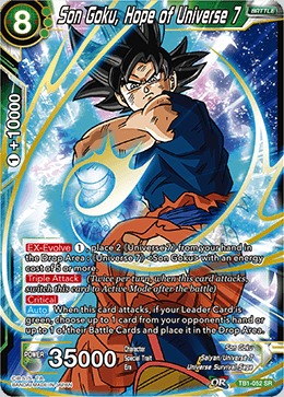 Son Goku, Hope of Universe 7 - TB01-052 - SR