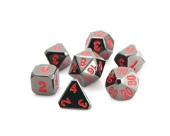 Forge Dice - Sinister Chrome w/ Red