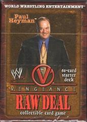 Raw Deal Vengeance Paul Heyman Starter Deck