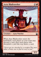 Azra Bladeseeker - Foil on Channel Fireball