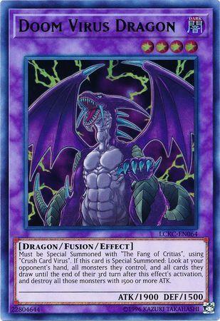 Doom Virus Dragon Lckc En064 Ultra Rare Unlimited Edition
