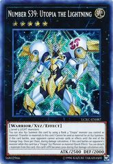 Number S39: Utopia the Lightning - LCKC-EN087 - Secret Rare - Unlimited Edition
