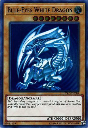 Blue-Eyes White Dragon (Version 2) - LCKC-EN001 - Ultra Rare - Unlimited Edition