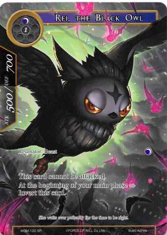 Rei, the Black Owl // Zero (Full Art) - WOM-100 - SR