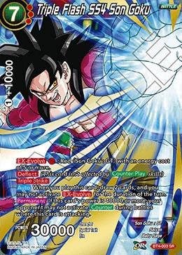 Triple Flash SS4 Son Goku - BT4-003 - SR