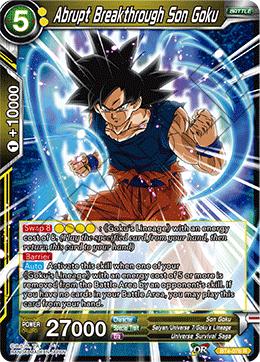 Abrupt Breakthrough Son Goku - BT4-076 - R
