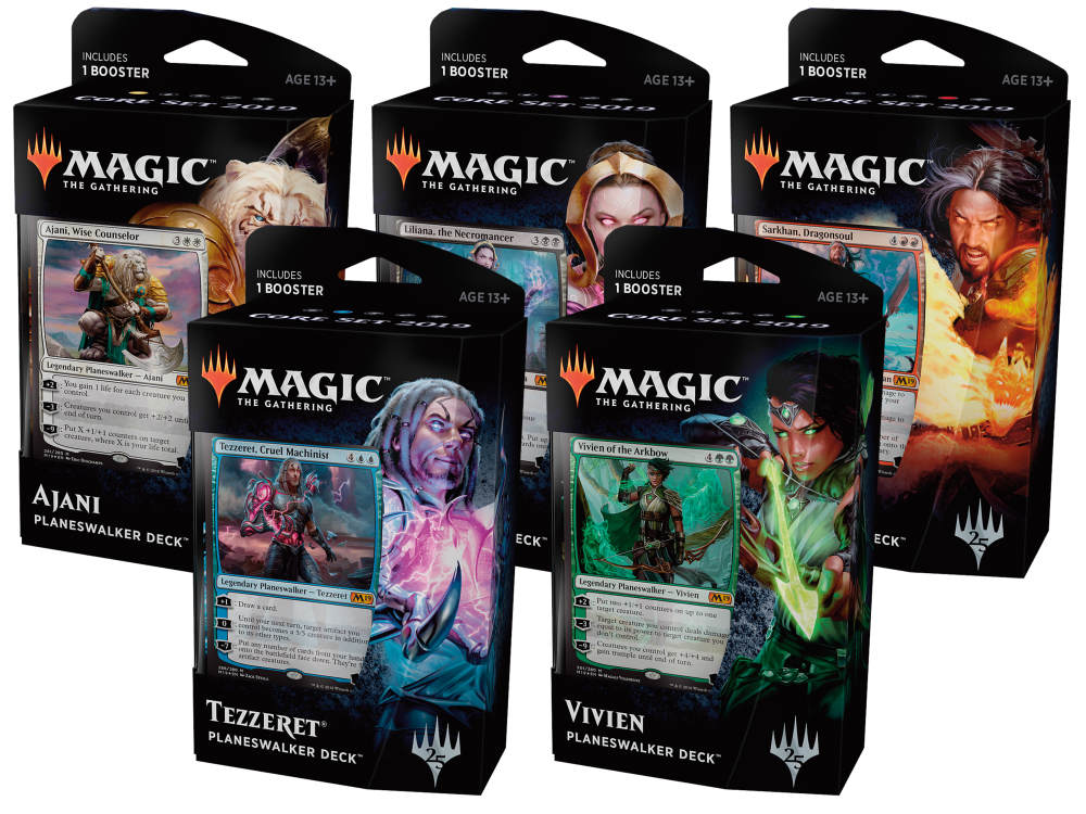 Core Set 2019 Planeswalker Decks - Set of 5