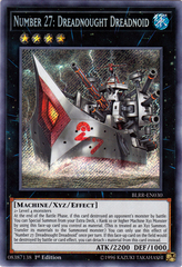 Number 27: Dreadnought Dreadnoid - BLRR-EN030 - Secret Rare - 1st Edition