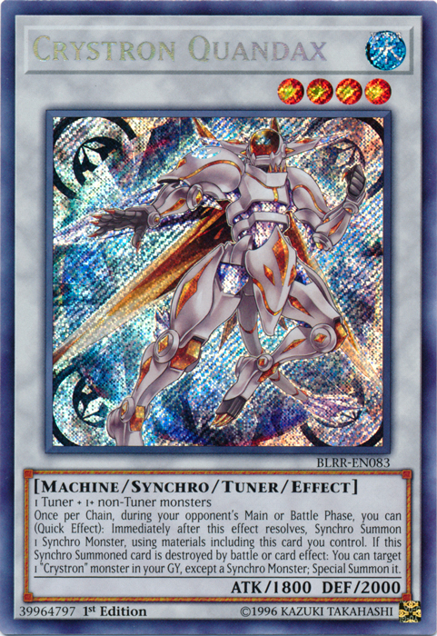 Crystron Quandax - BLRR-EN083 - Secret Rare - 1st Edition