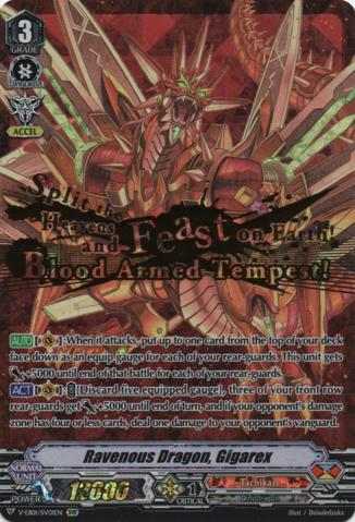V-EB01//001EN Cardfight Vanguard-1x-Near Mint Gigarex English-Ravenous Dragon