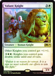 Valiant Knight - Foil - Prerelease Promo