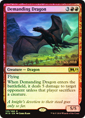 Demanding Dragon (Core Set 2019 Prerelease Foil)