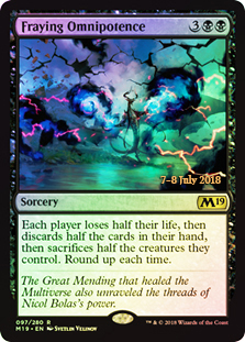Fraying Omnipotence - Foil - Prerelease Promo