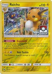 Raichu - 41/147 - 2nd Place Reverse Holo Pokemon League League Challenge Promo