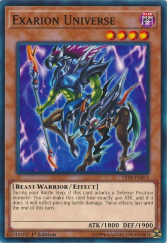 Exarion Universe - YS18-EN015 - Common - 1st Edition
