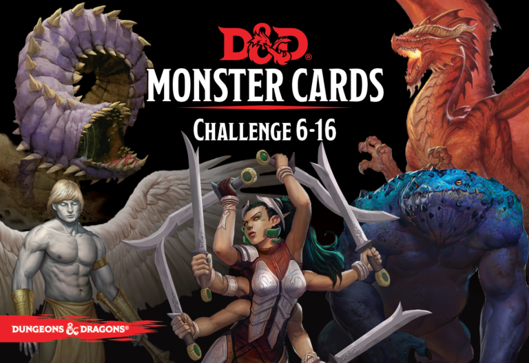 D&D Monster Cards: Challenge 6–16