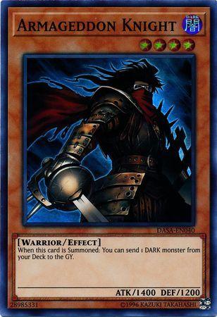 Unlimited Edition DASA-EN040 Super Rare Armageddon Knight