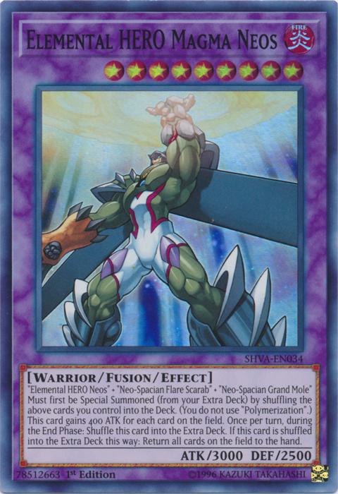 Elemental HERO Magma Neos - SHVA-EN034 - Super Rare - 1st Edition