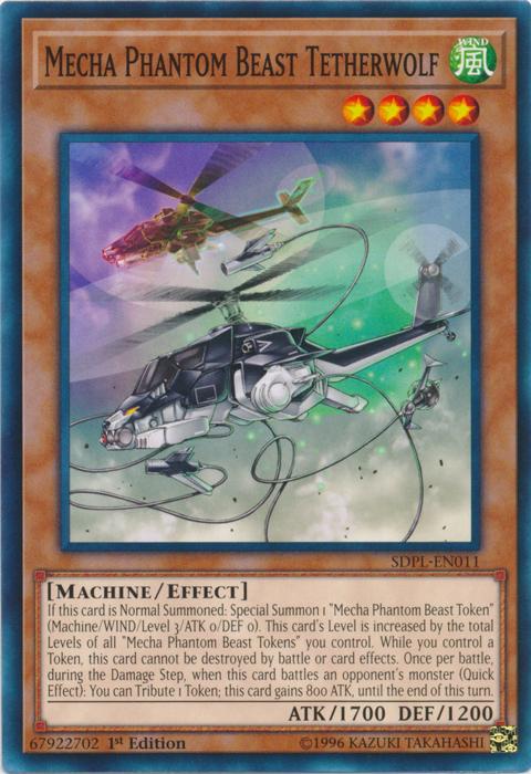 Mecha Phantom Beast Tetherwolf - SDPL-EN011 - Common - 1st Edition
