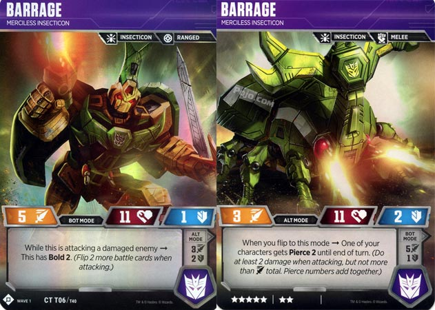 Barrage // Merciless Insecticon - Transformers TCG » Season