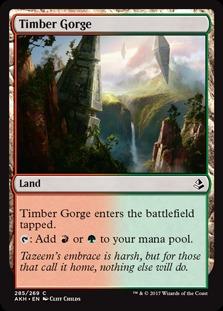 Timber Gorge (Amonkhet) - Planeswalker Deck Exclusive