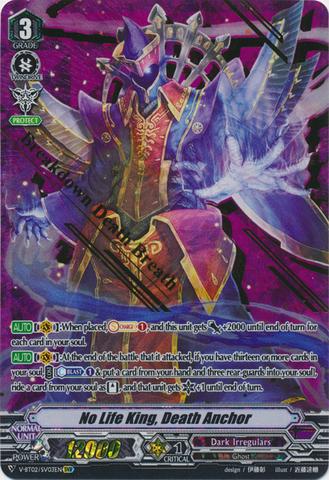 No Life King, Death Anchor - V-BT02/003EN - SVR (Gold Hot Stamp)