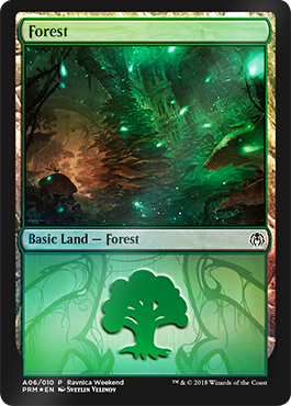 Forest - (A06) - Golgari - Ravnica Weekend