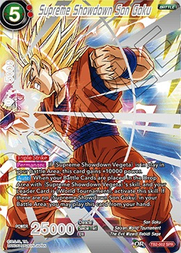 Supreme Showdown Son Goku - TB2-002 - SPR