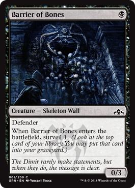 Barrier of Bones - Foil