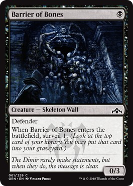 Barrier of Bones - Foil