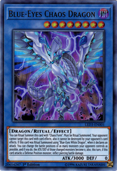 Blue-Eyes Chaos Dragon - LED3-EN001 - Ultra Rare - 1st Edition