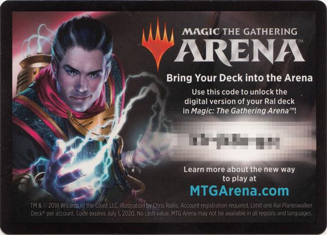 MTG Arena Code Card - Ral Planeswalker Deck - Magic Singles