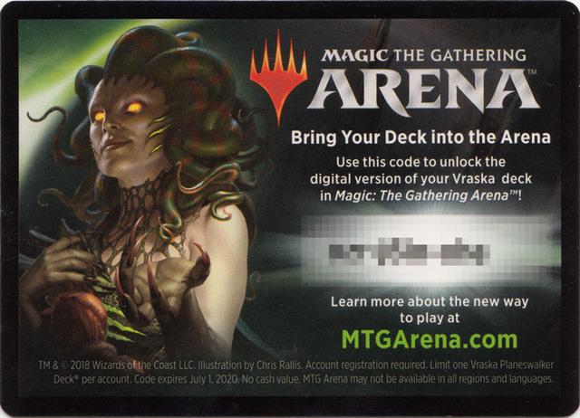 MTG Arena Code Card - Vraska Planeswalker Deck - Magic Singles