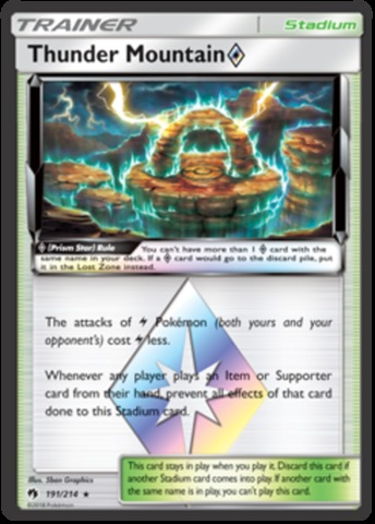 Thunder Mountain [Prism Star] - 191/214 - Holo Rare
