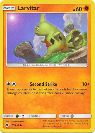 Larvitar - 115/214 - Common