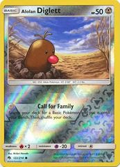 Alolan Diglett - 122/214 - Common - Reverse Holo on Channel Fireball