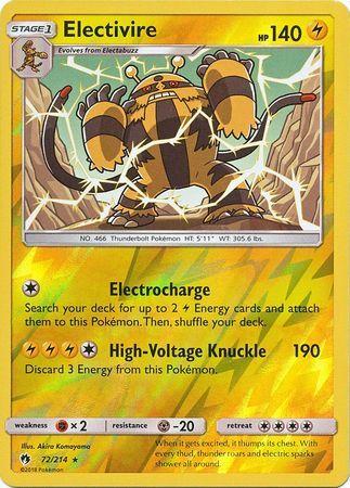 Electivire - 72/214 - Rare - Reverse Holo
