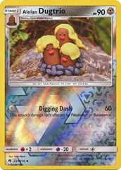 Alolan Dugtrio - 123/214 - Uncommon - Reverse Holo on Channel Fireball
