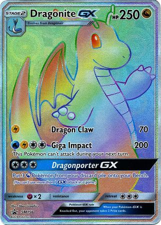 Dragonite GX - SM156 - Secret Rare - Full Art - SM Black Star Promo