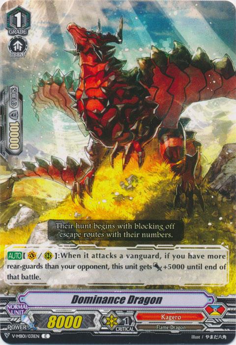 Dominance Dragon - V-MB01/031EN-B - C - Full Art Foil
