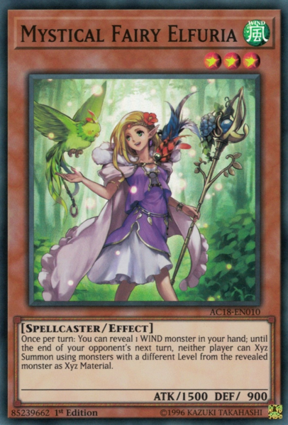 Mystical Fairy Elfuria - AC18-EN010 - Super Rare - 1st Edition